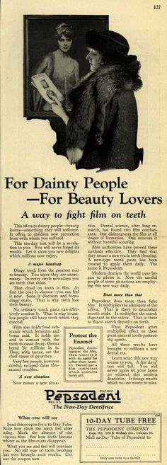 Pepsodent Company's tooth paste – For Dainty People – For Beauty Lovers (1924)