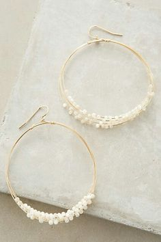 Mother of pearl hoops - ANTHROPOLOGIE