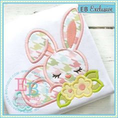 Applique Only :: Bunny Flowers Applique