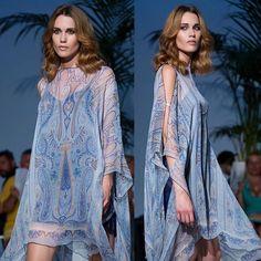 Our Short Caftan Dress and beautiful @a_n_a_m_i  last week in our fashion show in Barcelona 🙌🏻🙌🏻🙌🏻 www.danielapoggi.com