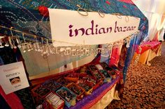 Indian Bazaar with bindis and bangles  Image by Night and Day Photography  (http://www.nightanddayphoto.ca/)  Planning/Design by Jennifer Bergman Weddings (http://www.jenniferbergmanweddings.com)