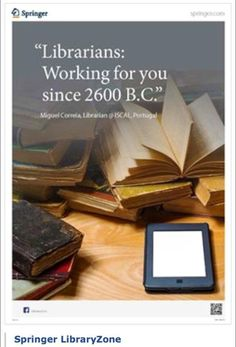 """""""Librarians: Working for you since 2600 B.C."""" poster"""