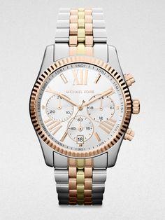 Michael Kors Trilogy Lexington Stainless Steel Chrogograph Watch  197$