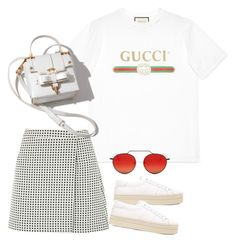 """Sem título #1498"" by oh-its-anna ❤ liked on Polyvore featuring Gucci, Yves Saint Laurent, Joie and Illesteva"
