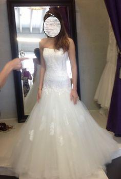 2c00ebe12971 Annasul Y Chiffon Size 2 Wedding Dress For Sale | Still White Canada 2nd  Wedding Dresses