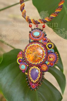 Summer colors - Beaded necklace