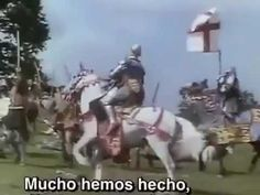 """The Battle of Agincourt (Pt 2) This is the famous scene that created the """"flights of arrows"""" trope used in movies ever since. Not very good quality, and a Spanish download, but there's no dialogue, so. . ."""