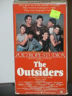 The Outsiders Movie on VHS Matt Dillon Tom Cruise Rob Lowe C Thomas Howell Tom Waits Emilio Estevez Patrick Swayze Ralph Macchio Diane Lane. by GailsPopCycle on Etsy