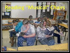 "Reading ""Musical"" Chairs - Hojo's Teaching Adventures Want your students to try out a variety of genres? Then try out ""Reading Musical Chairs""!<br> Learn reading musical chairs in a fun way. Get Freebie! To learn more visit us: Library Lessons, Reading Lessons, Reading Resources, Reading Skills, Reading Strategies, Reading Genres, 6th Grade Reading, Middle School Reading, Student Reading"