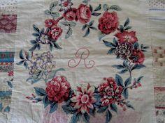 Antique Broderie Perse Applique Quilt Square c.1830 by unfocused