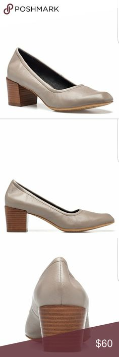 """NIB M4D3 'Carol' Taupe Block Heel Pump in 8.5M Simple and nicely understated! The Carol from M4D3 is the perfect block heel pump to help you show off your fabulous style.  Leather upper Elastic top line Square toe Leather lining 2"""" stacked block heel Man made sole Made in Brazil M4D3 Shoes Heels"""