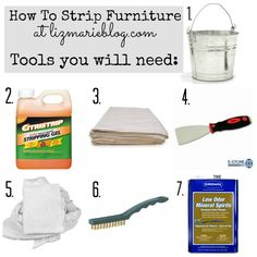 How to strip painted furniture. I have been stripping furniture for years but there are new products I know nothing about. This is one of them ~ Liz Marie