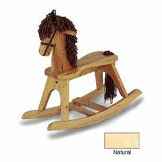 Angel Line Rocking Horse by Angel Line. $38.98. This item is a special order and your credit card will be charged when the order is placed. Sturdy hardwood construction. Weight: 11 lbs.. Any damaged or defective parts will be replaced by the manufacturer. Non-toxic finish. Children love rocking horses, and you too will love this wooden Rocking Horse by Angel Line. This horse has the timeless look of a classic that will never go out of style. No nursery is complete without a roc...