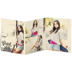 Favorite Photos Trifold Graduation Announcements