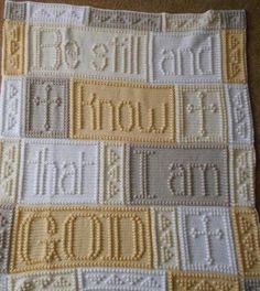 (4) Name: 'Crocheting : BE STILL pattern for crocheted blanket