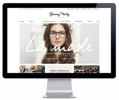 like the minimalist clean look of this home page - but would probably want to incorporate some fun chic feminine element in there.