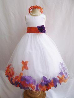 CUSTOM COLOR - Flower Girl Dress - Rose Petal Dress - Wedding, Easter, Junior Bridesmaid, Formal Girl Dress, Recital (FGPT) on Etsy, $42.99