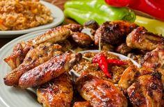 Jamaican Jerk Chicken Wings - Science of Cooking Jamaican Jerk Sauce, Jamaican Dishes, Jamaican Recipes, Jerk Chicken Wings, Chicken Fingers, Comida Latina, Caribbean Recipes, Caribbean Food, Chicken Wing Recipes