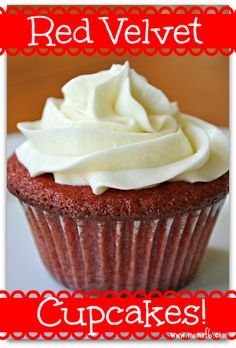 Our family's favorite dessert is red velvet cake- so why not turn that into cupcakes? So delish!