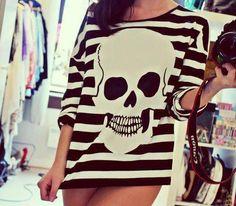 Skull sweater.
