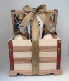 French Vanilla Bath Gift Set-wood Treasure Box,body Lotion,shower Gel,bubble Bath,2 Bath Fizzer by Freida and Joe. $20.99. 85ml Shower Gel,85ml Bubble Bath,. Gold Ribbon, handtag. French Vanilla Scent. 80ml Body Lotion,2 Bath Fizzers. Wooden treasure box- Mirror on the lid, a draw,leather look edges. This is the perfect gift you will treasure. The rich French Vanilla Scent will make you feel uplifted and really good about yourself! The wooden treasure box has a ...