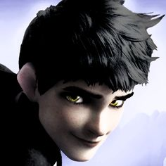 dark jack frost | dark!jack frost on Tumblr. Just so you guys know, I only like the pictures of dark Jack because his hair looks wicked awesome black. Plus the gold(or yellow) eyes are really cool
