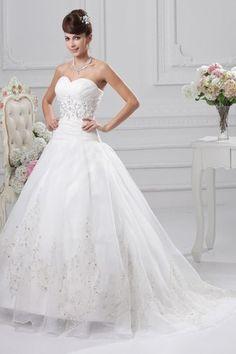 Chapel Train Organza Elastic Satin Demure Sleeveless Inverted Triangle Beading Mid Back Wedding Dress