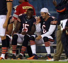 BOURBONNAIS — It's hard for Jay Cutler not to salivate over red-zone scoring potential with Brandon Marshall and Alshon Jeffery on the field simultaneously. Nfl Memes, Football Memes, Sports Memes, Nfl Football, Funny Sports, Funny Dallas Cowboy Pictures, Funny Pictures, Jay Cutler Bears, Philadelphia Eagles Pictures