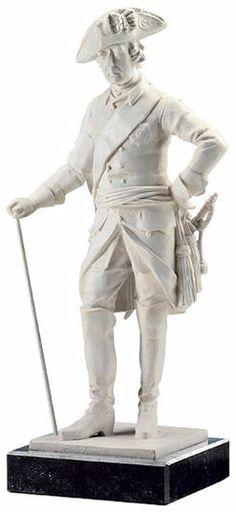 """Johann Gottfried Schadow: Skulptur """"Der Alte Fritz"""" (Reduktion), Version in Kunstmarmor"""