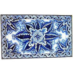Architectural 'Borazjan Design' 60-tile Ceramic Wall Art | Overstock™ Shopping - Big Discounts on Arts Exotiques Wall Tiles