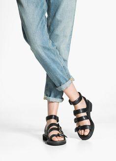 Multiple strap sandals with buckle fastenings and rubber sole. Hooker Heels, Foot Love, Birkenstock Mayari, Walk On, Strap Sandals, Pretty Dresses, Uggs, Sunglasses, Stylish