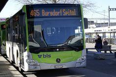 MB C2 K hybrid 212 der Busland AG der am 17.2.19 beim Bahnhof Burgdorf steht. Busse, Bern, Public Transport, Coaches, Long Distance, Transportation, Vehicles, Trainers, Car