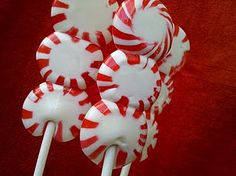 peppermint candy lollipop tutorial