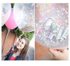 Confetti Balloon- creative way to give money as a present