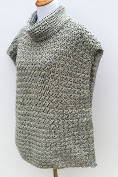 Crochet Poncho PATTERN Women girls Cowl Neck por LittleMonkeyShop