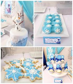 Frozen Birthday Party via Kara's Party Ideas KarasPartyIdeas.com The Place for All Things PARTY! #frozen #frozenparty #frozenbirthdayparty #frozenpartyideas #disneyfrozen #winterparty #frozencake
