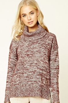 FOREVER 21+ Marled Turtleneck Sweater