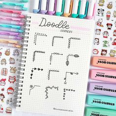Doodle corner ideas that you can not use in your bullet or in your study … – point Related posts: Bullet Journal Doodles: 24 great doodle … Bullet Journal Headers, Bullet Journal Banner, Bullet Journal 2020, Bullet Journal Notebook, Bullet Journal Aesthetic, Bullet Journal Ideas Pages, Bullet Journal Layout, Bullet Journal Inspiration, Bullet Journal Dividers
