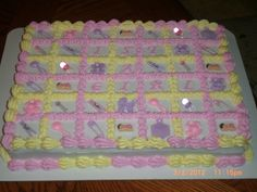 sheet cake for baby shower but with boy colors Baby Shower Cupcake Cake, Baby Shower Sheet Cakes, Baby Shower Cake Designs, Torta Baby Shower, Cupcake Cakes, Baby Cakes, 2nd Baby Showers, Elephant Baby Showers, Baby Shower Parties