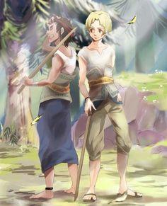The Legend of Zelda: Twilight Princess - Talo and Colin all grown up #fanart