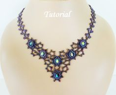 Beading tutorial for beadwoven necklace  van PeyoteBeadArt op Etsy, $8,50