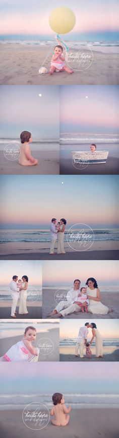 A Moonlit beach First Birthday for Miss G.   Heidi Hope Photography