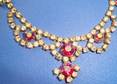 Beautiful Iridescent Vintage Rhinestone Choker by fyfchicenergy, $22.00