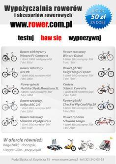 http://rower.com.pl/-p-454287.html - Oferta wypożyczalni rowerów