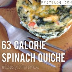 The Amazing 63 Calorie Quiche Recipe - Low Fat, Low Carb, High Protein! YUM! #DaisyDifference #fitfluential #cooking #fitness #diet #weightloss