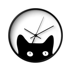 Forget what legend says! We think this charming black cat will only bring good vibes to your beloved living space. Peering from the bottom of this all-white clock face, the friendly feline at the botto...  Find the Peekaboo Cat Wall Clock, as seen in the Wall Clocks Collection at http://dotandbo.com/category/decor-and-pillows/clocks/wall-clocks?utm_source=pinterest&utm_medium=organic&db_sku=122202