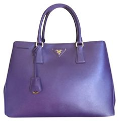 Prada Saffiano Lux Large -purple Bn1844 Purple Tote Bag. Get one of the  hottest 4dccbf28bf16e