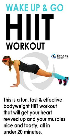 16 minute WAKE UP AND GO HIIT WORKOUT - At home total body no equipment needed cardio routine you can do anywhere. #noexcuses #workoutforwomen #weightloss