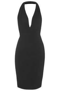Plunge Halterneck Bodycon Dress