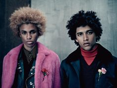 FEATURE: Black and brown boys, natural afros, and flamboyant 70's-inspired menswear in Vogue Hommes - AFROPUNK